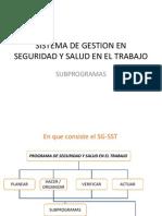 Subprogramas SG SST