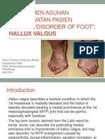 Manajemen Asuhan Keperawatan Pasien Dengan Disorder of Foot; Hammer Toe and Hallux Valgus FREE