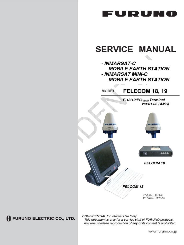 Furuno 628 Wiring Diagram Explained Diagrams Felcom18 19 Services Manual Pdf Computer Terminal Personal Computers Kenwood