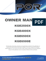 Gasoline generator Kge2500x Manual En