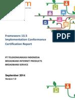 Fx13.5 CertificationReport TelkomIndonesia V1.0