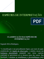 Especies de Interpretacao