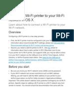 Connect a WiFi Printer Mac OS X