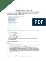 CS4 Design Premium — Lisez-moi