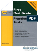 First Certificate Practice Tests