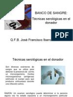 Realizar Tecnicas Serologicas en El Donador