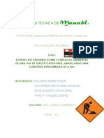 Proyecto Impacto Ambiental Ing Civil