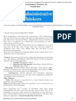 1.Administrative Thinkers­ An Introduction