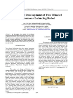 Design and Development of Two Wheeled