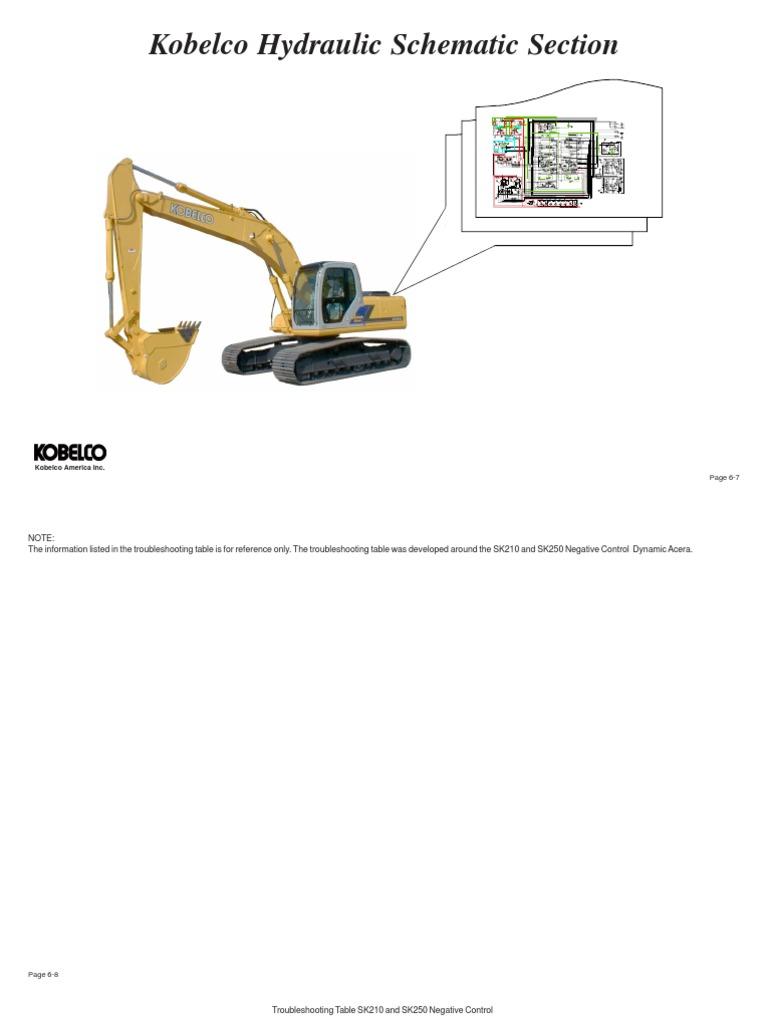 kobelco esquemas hidr ulicos sk210 y sk330 pump valve rh es scribd com Kobelco SK350 Kobelco 210 Excavator Specs