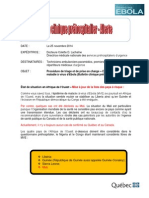 Bulletin Clinique Alerte Ebola 2014-11-25