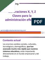 Generaciones X, Y, Z. Claves para la administración eficiente