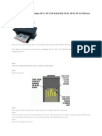 Reset the Ink Level for Cartridges HP 21