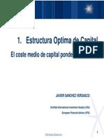1. Estructura de Capital WACC ESCP Estrategia Financiera 2010