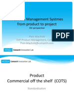 CIL Network Management Systems From Product to Project