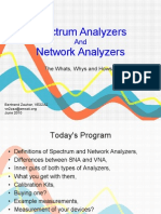 Network and Spectrum Analyzers