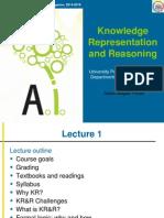 KRR Lecture 1 Intro FOPL