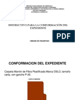 Instructivo de Conformacion Expediente Pasantias
