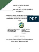Sales and Distribution Channel of Tata Motors Ltd Final