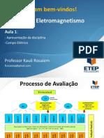 Eletromagnetismo AULA 1