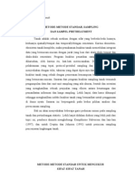METODE-METODE STANDAR, SAMPLING  DAN SAMPEL PRETREATMENT