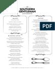 The Southern Gentleman menu
