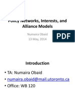 Policy Networks, Interests, And Alliance Models
