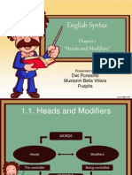 Syntax-Heads and Modifiers