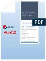 Coca Cola Co vs Pepsico