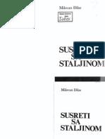 793_Đilas, Milovan, Susreti Sa Staljinom, Naša Reč, 1986