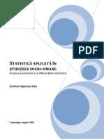 Statistica aplicata in stiintele socio-umane. Volume 2 (Romanian).pdf