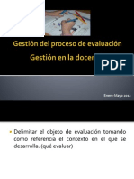 Gestión y Evaluación en Educación