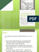 3. Elementos y Etiquetas HTML
