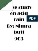 Case Study on Acid Rain