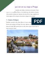 10 Cosas Que Ver en Su Viaje a Praga