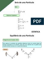 Estatica u2a Equilibrio de Una Particula
