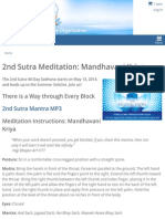 2nd Sutra Meditation