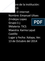 ZendejaslopezE.U J-Actividad 14B - Internet - Power Point