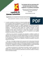 IC - Las Tareas de Las Secciones de La Internacional Comunista Respecto a La Política Municipal
