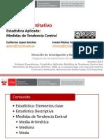 Enfoque Cuantitativo, Estadìstica Aplicada y Medidas de Tendencia Central