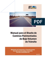 Manual de Diseño de Caminos Pav Bajo Vol de Transito