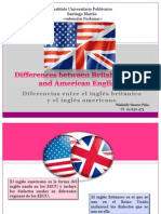 Differences Between Britsh English and American English