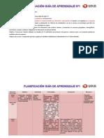 Planificación guía didáctica Nº1, FGK