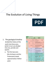evolution of living things