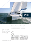 Leopard 38 Featured in Multihulls Quarterly