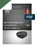 RECONOCIMIENTO GEOLÓGICO QUINUA