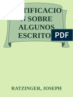 Notificacion Sobre Algunos Escr - Ratzinger, Joseph