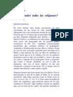 Tema 32-Son Iguales Todas Las Religiones
