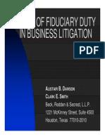 5 Breach of Fiduciary Duty in Business Litigation