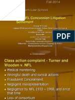 NFL Concussion Settlement - discussion slides